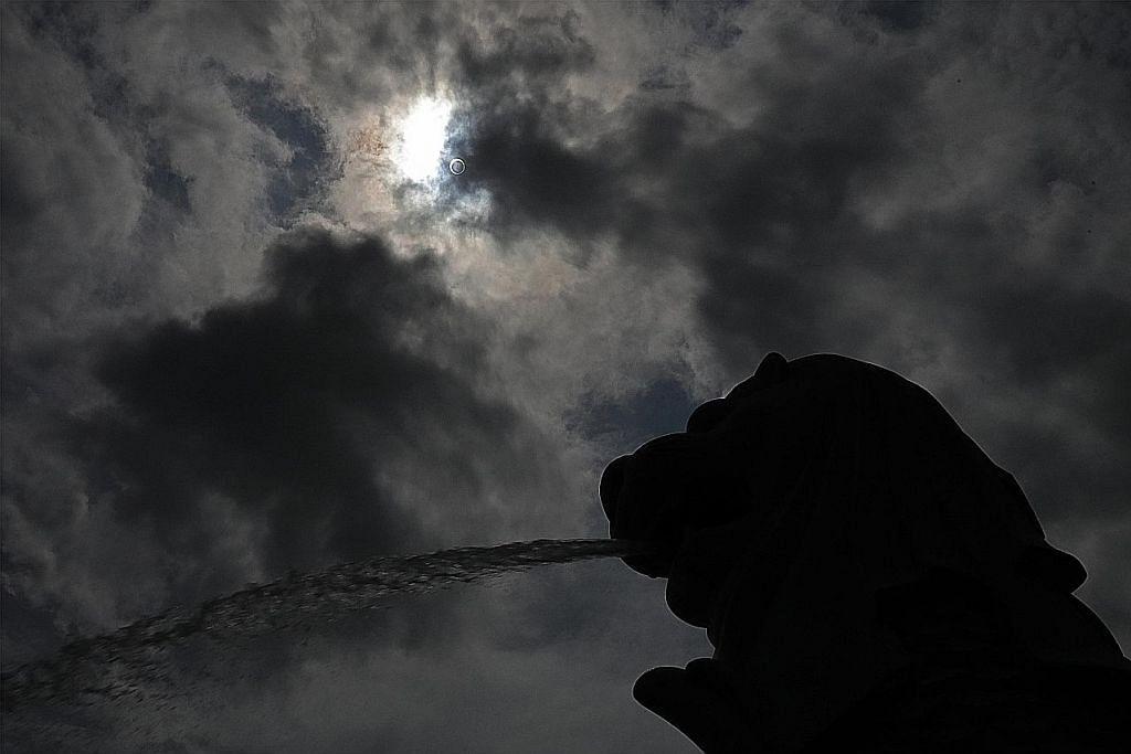 Ribuan berkumpul saksi gerhana matahari