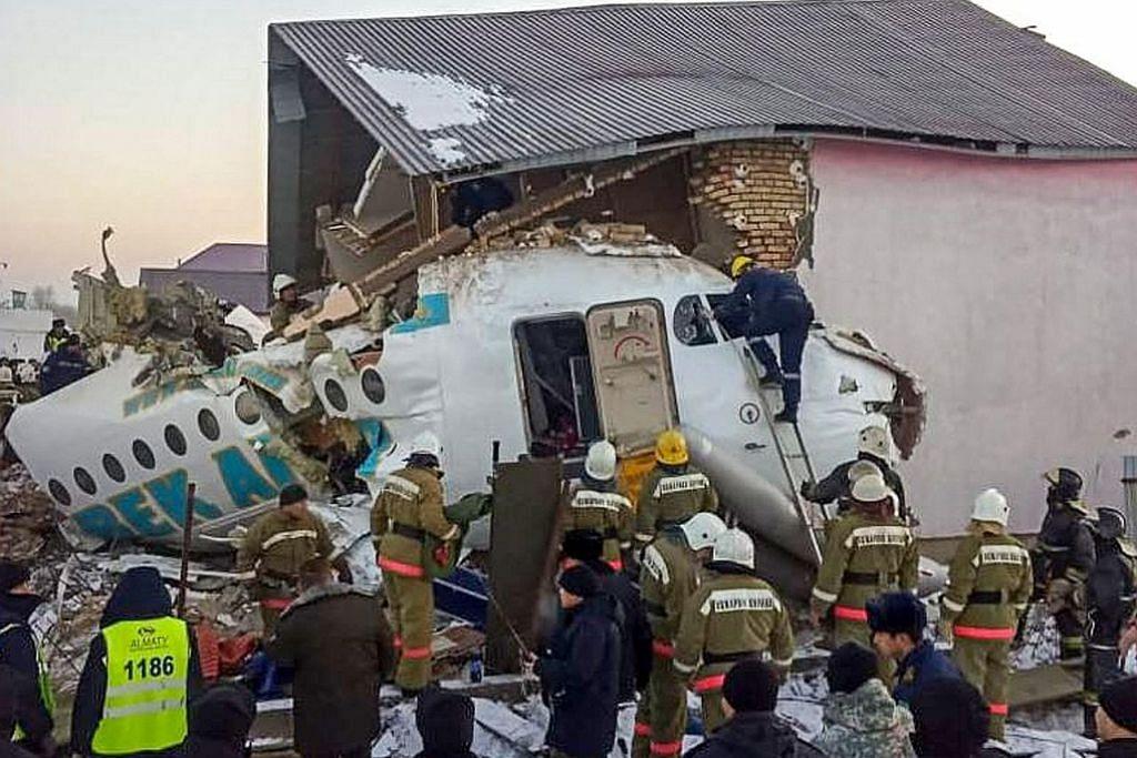 Sekurang-kurangnya 15 maut nahas pesawat di Kazakhstan