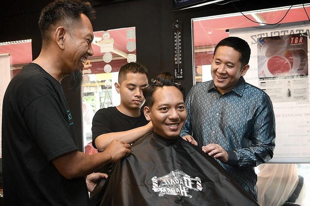 Tukang gunting rambut serta kempen 'Dadah Itu Haram'
