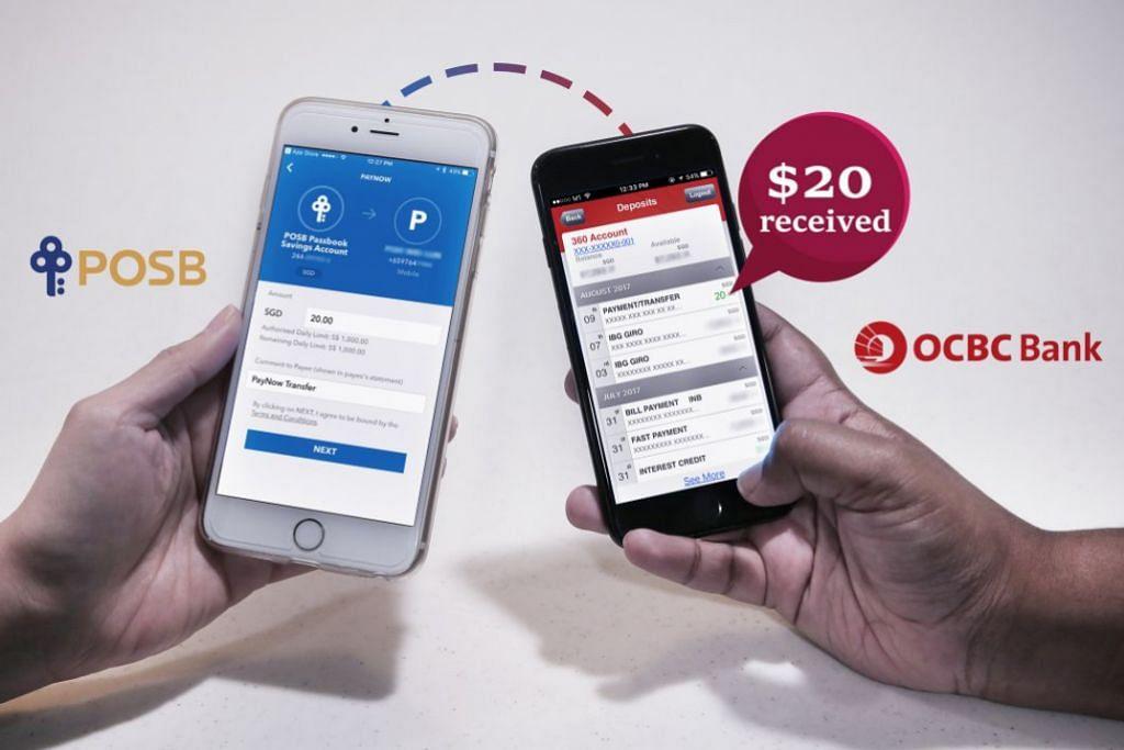PAYNOW: Melalui PayNow, pengguna bank yang berbeza dapat dengan cepat memindahkan wang kepada pengguna lain menggunakan nombor telefon bijak mereka.