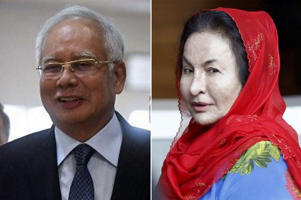 RAKAMAN SUARA DIPERDENGAR: SPRM percaya suara dalam rakaman itu ialah Datuk Najib (gambar kiri), isterinya, Rosmah, termasuk Putera Mahkota Abu Dhabi Mohammed bin Zayed dan lain-lain. - Foto-foto fail