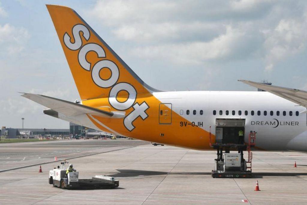 Semua 314 penumpang dalam penerbangan Scoot TR 188 telah diasingkan di lapangan terbang sehingga keputusan pemeriksaan darah mereka diterima. - Foto ST FILE