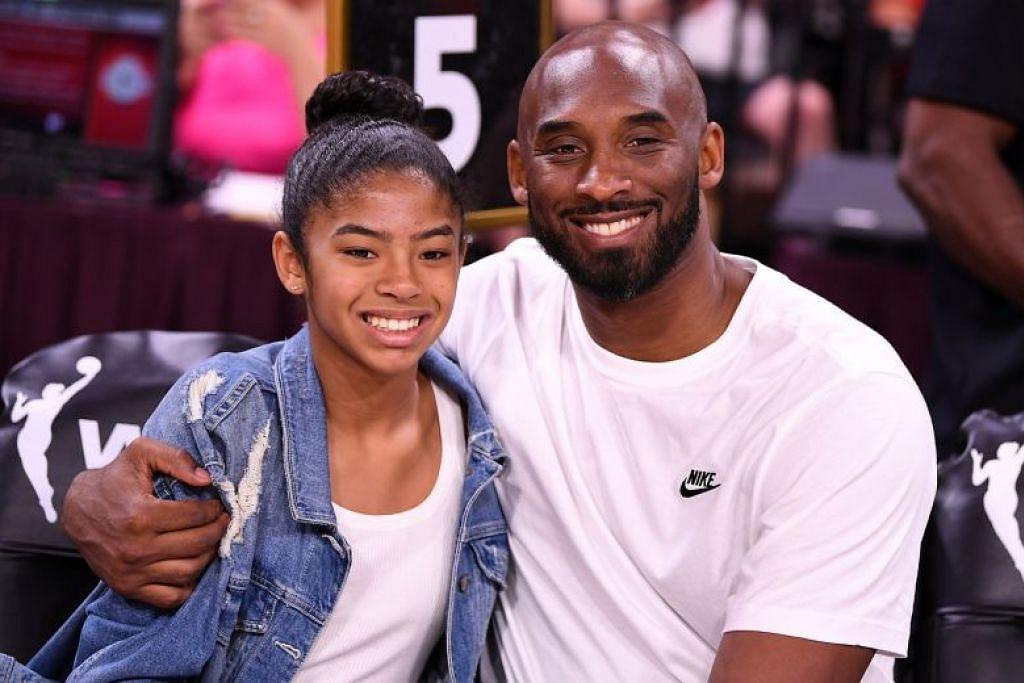 Kobe Bryant dan anaknya, Gianna, meninggal dunia dalam nahas helikopter. FOTO: REUTERS
