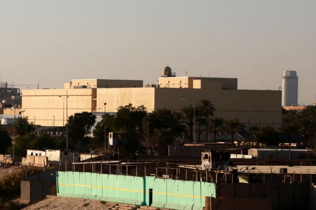 Kawasan Kedutaan AS di Baghdad, Iraq. FOTO: EPA-FREE