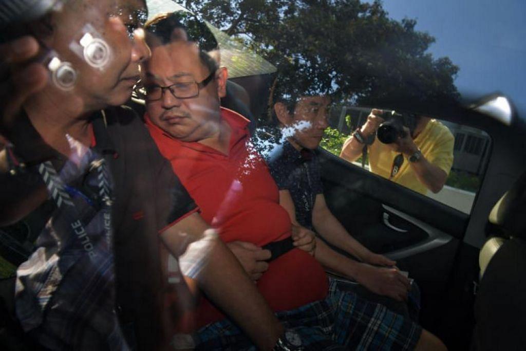 Teo Ghim Heng mencekik isteri dan anak perempuan mereka di flat mereka di Woodlands.