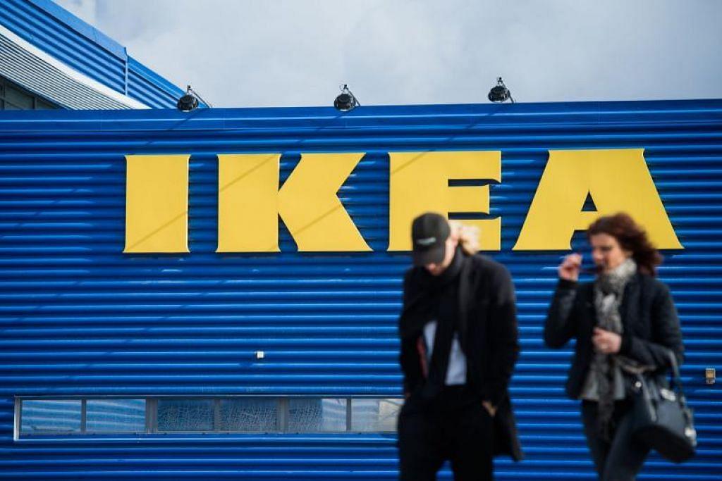 Ikea menutup separuh dari kedainya di China dan pekerja disuruh menetap di rumah dengan gaji berbayar. FOTO: AFP