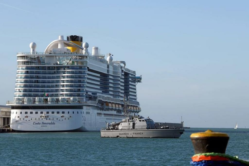 Kapal persiaran Costa Smeralda. FOTO: AFP