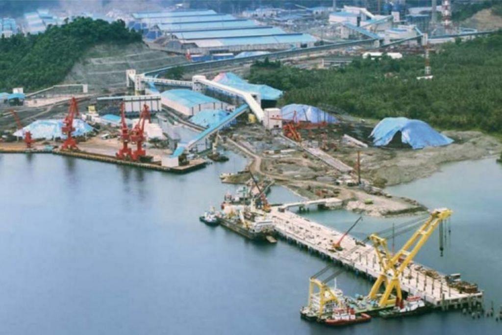 Taman Industri PT Indonesia Morowali telah menyekat hab perlombongan nikelnya di pulau Sulawesi. FOTO: IMIP