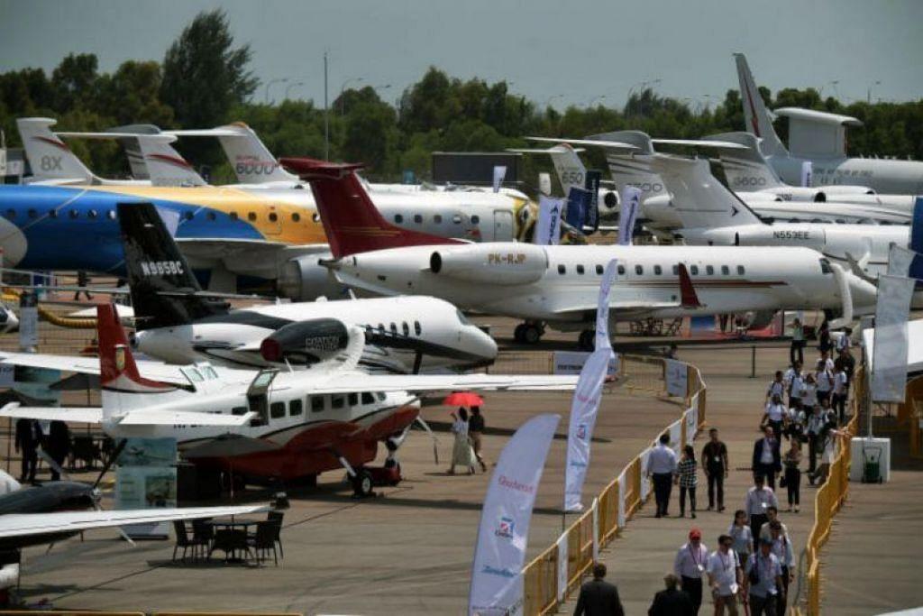 Jet peribadi yang dipamerkan semasa Singapore Airshow. FOTO: FAIL ST