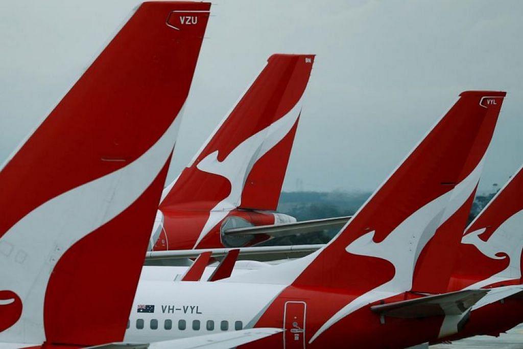 Pesawat Qantas Airways digunakan untuk memindahkan rakyat dan penduduk tetap Australia dari Wuhan, China. FOTO: REUTERS