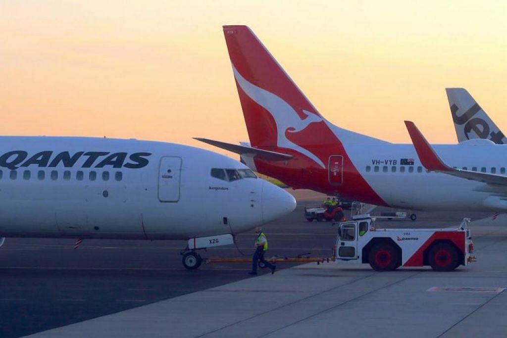 PINDAHKAN WARGA AUSTRALIA: Gambar fail menunjukkan pesawat Qantas Airways. Sebuah penerbangan Qantas, yang membawa warga Australia yang dikeluarkan dari Wuhan, telah mendarat di pangkalan udara tentera di utara Perth, sebelum penumpang dipindahkan ke pesawat lebih kecil untuk ke Pulau Krismas.