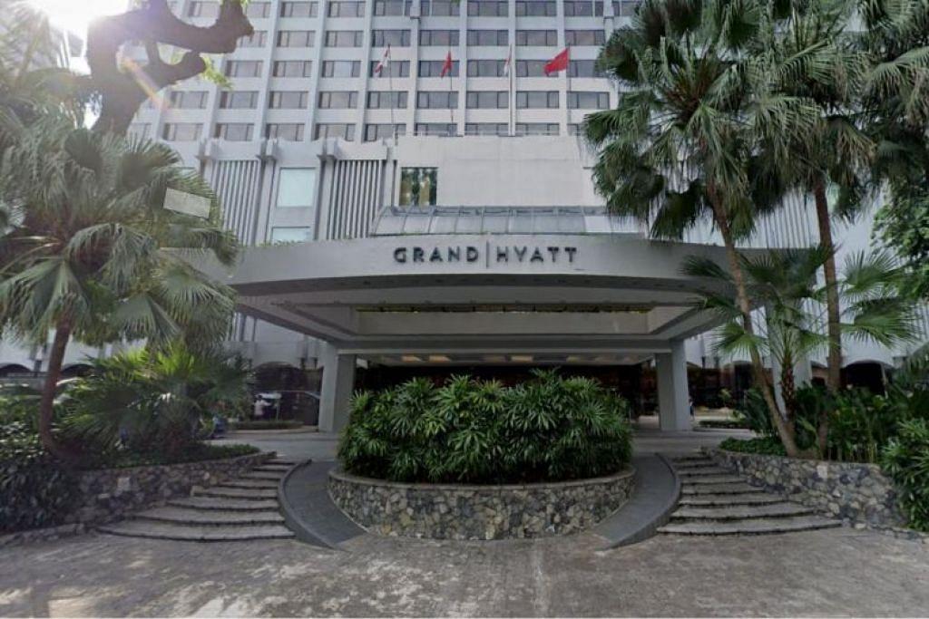 TEMPAT MESYUARAT: Kementerian Kesihatan Singapura pada Selasa berkata mesyuarat melibatkan rakyat Malaysia yang dijangkiti itu berlaku di Grand Hyatt Hotel.