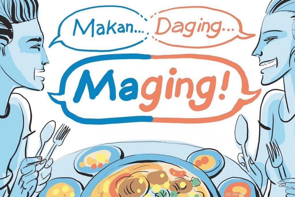 KEKATA AKRONIM: Perkataan 'maging' adalah singkatan bagi makan daging yang merujuk kepada haiwan bersifat memakan daging. – ILUSTRASI BM oleh CEL GULAPA