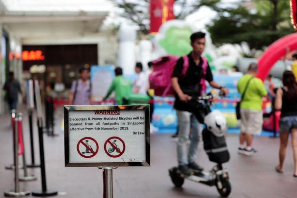 LARANGAN PMD: Sejak dilarang di laluan pejalan kaki, e-skuter hanya boleh dinaiki di laluan berbasikal.