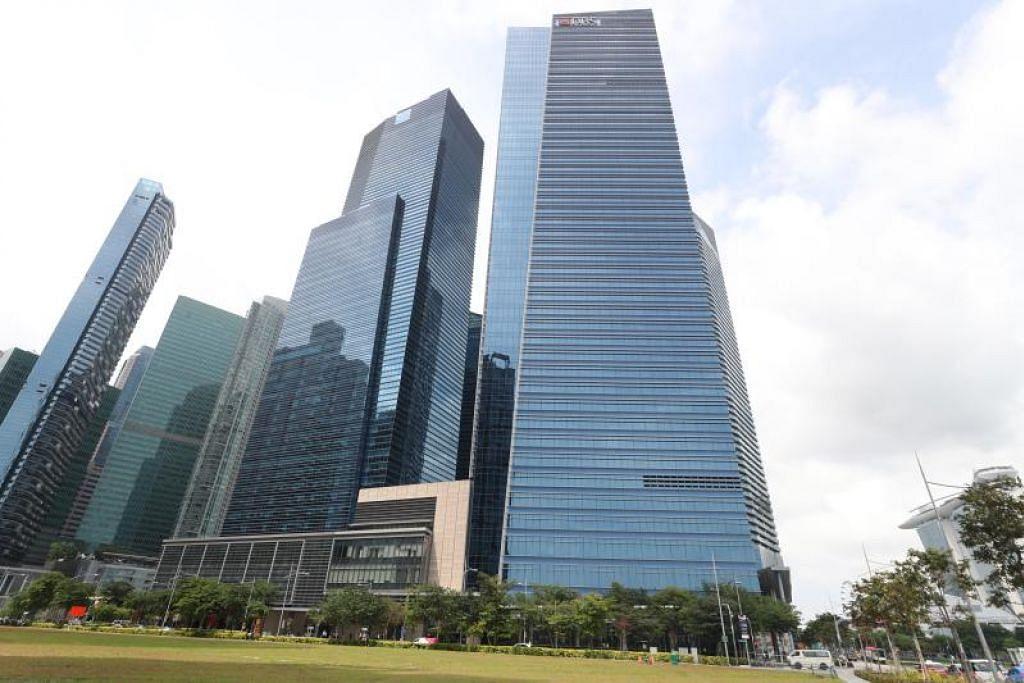 Bangunan DBS di Pusat Kewangan Marina Bay (MBFC). FOTO: TIMOTHY DAVID