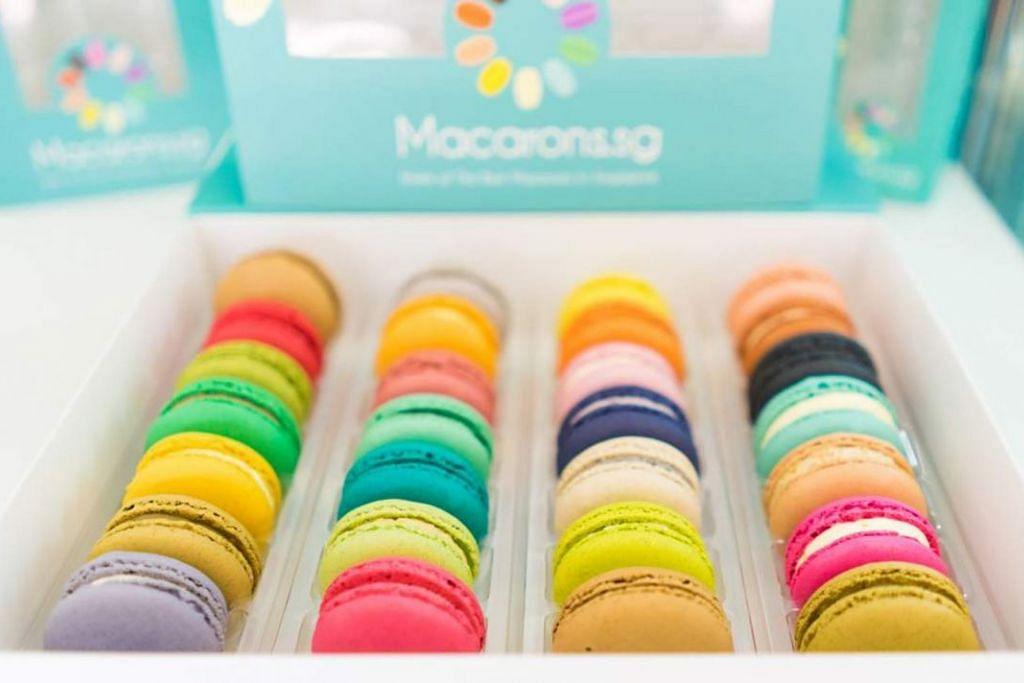 Macaron pelbagai perisa dan warna - Foto MACARONS.SG