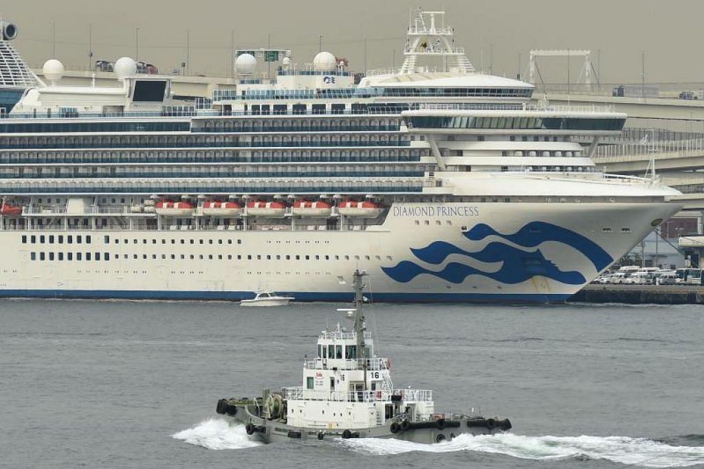 Dua warga Australia yang dipindahkan dari kapal persiaran Diamond Princess disahkan dijangkiti koronavirus. - Foto AFP