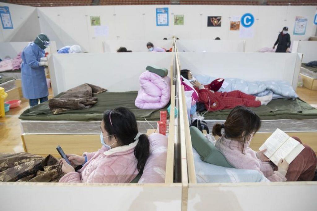 RAWAT PESAKIT KORONAVIRUS: Hospital sementara Wuhan Fang Cang antara yang dibangunkan bagi merawat pesakit yang dijangkiti koronavirus di Wuhan, China.