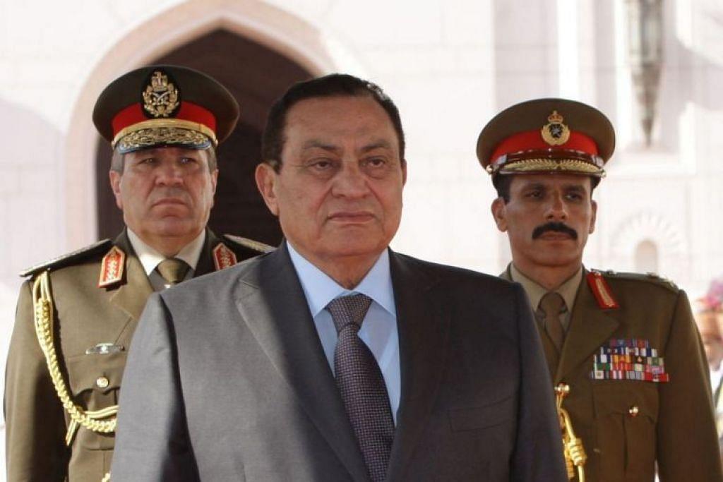 Hosni Mubarak memerintah Mesir selama 30 tahun sebelum digulingkan berikutan tunjuk perasaan besar-besaran pada 2011.