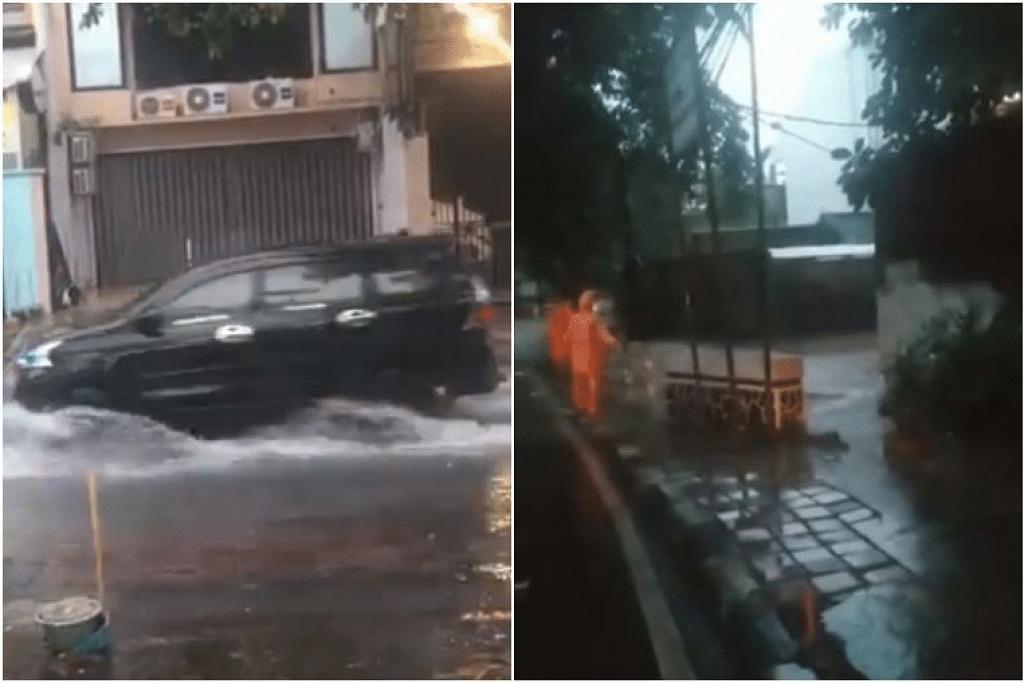 Lebih 80 kawasan banjir dilaporkan di Jakarta dan bandar satelit, Bekasi dan Tangerang pada pagi Selasa (25 Februari). - Foto TWITTER