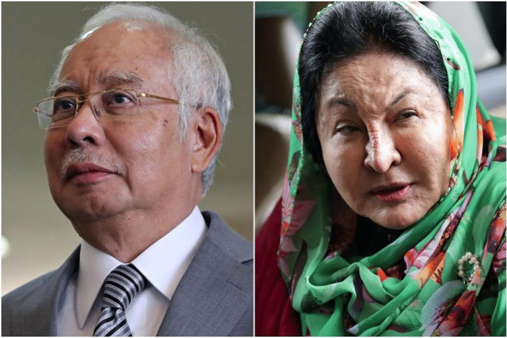Bekas Perdana Menteri Malaysia Najib Razak dan isterinya, Rosmah Mansor bakal membuat penampilan dalam satu episod siri dokumentari Netflix, Dirty Money. - Foto REUTERS
