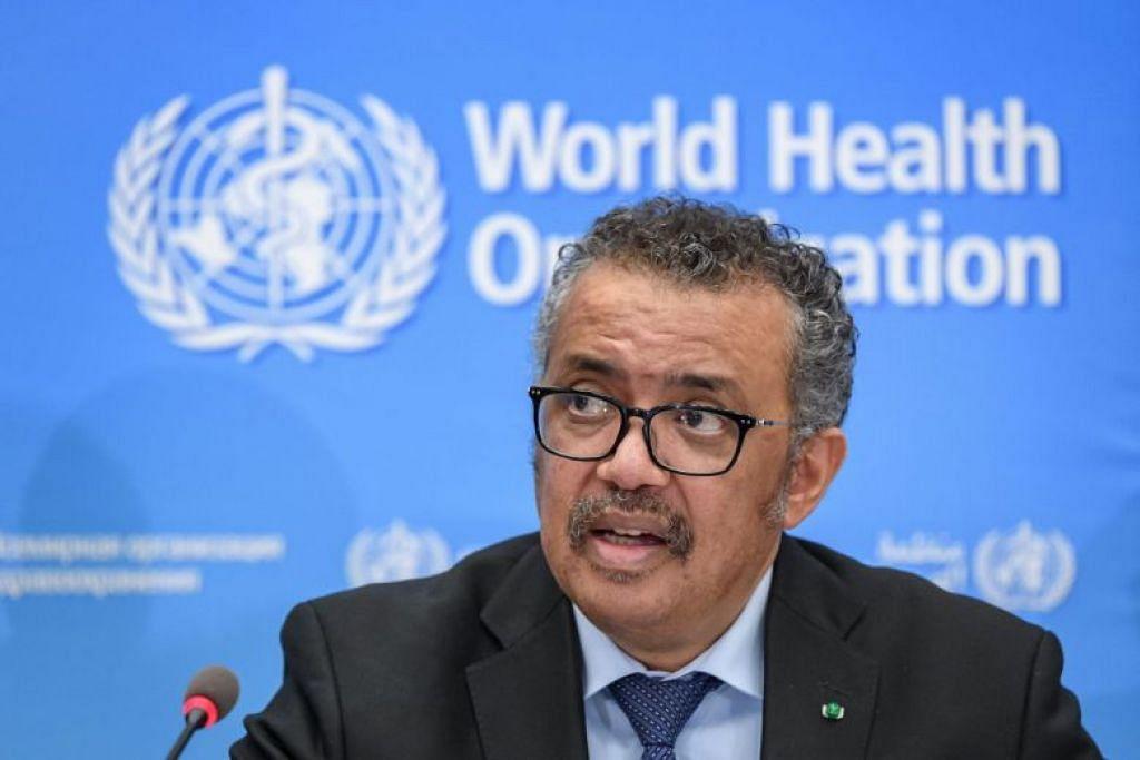 Ketua WHO, Tedros Adhanom Ghebreyesus memberi perkembangan mengenai Covid-19 berkata dalam satu sidang media di Geneva.