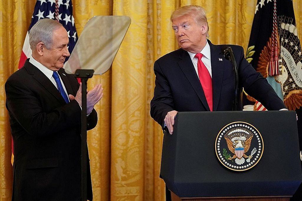 Rancangan damai Israel-Palestin Amerika dapat reaksi berbeza