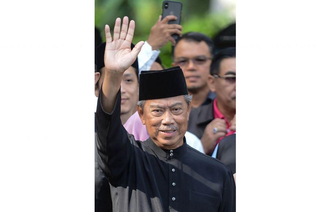 TAN SRI MUHYIDDIN: Beberapa penganalisia politik berpendapat beliau akan berpegang pada janjinya dalam ucapan sulungnya sebagai Perdana bahawa beliau akan melantik jemaah menteri daripada kalangan pemimpin bersih, berintegriti dan berkaliber. - Foto AFP