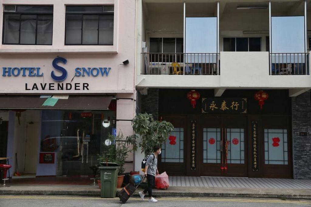 INTERAKSI DENGAN KUMPULAN PELANCONG: Kesemua tujuh kes jangkitan setempat di Singapura boleh dijejak kepada interaksi dengan sekumpulan pelancong China yang antara lain telah melawat kedai perubatan Cina, Yong Thai Hang, di Cavan Road, berdekatan Lavender.