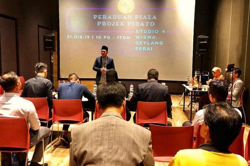 Pertandingan Projek Pidato dianjurkan di Wisma Geylang Serai baru-baru ini.