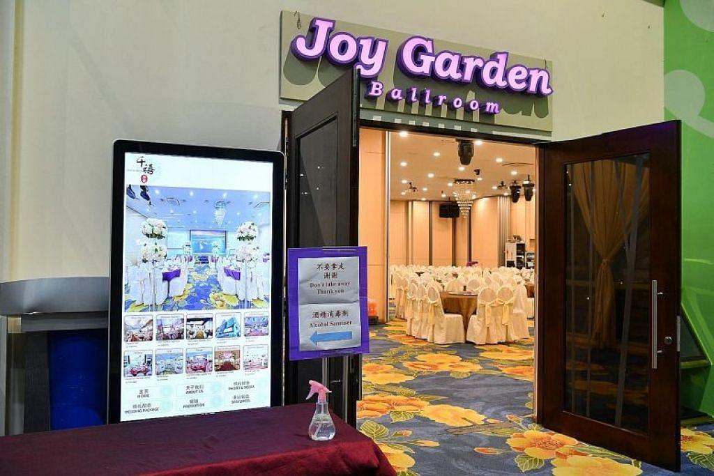 KELOMPOK TERBESAR: Daripada 160 kes koronavirus yang disahkan di Singapura, sebanyak 36 kes berkaitan dengan jamuan Tahun Baru Cina yang diadakan di restoran Joy Garden di Safra Jurong pada 15 Februari 2020.
