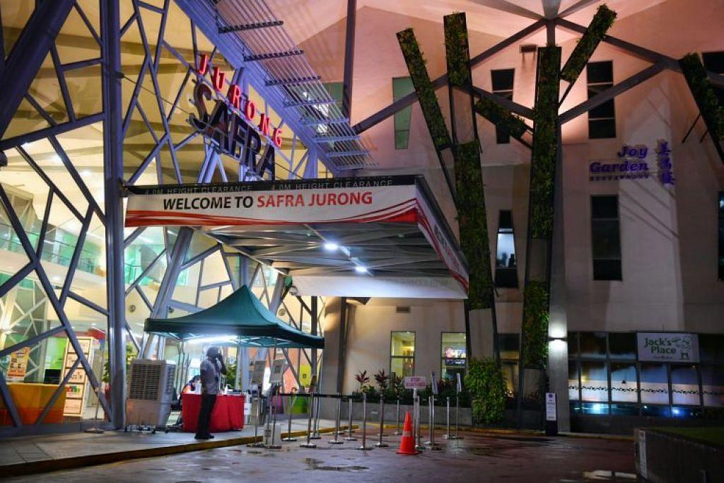 Kelompok Safra Jurong kekal kelompok jangkitan Covid-19 terbesar setempat, dengan 39 kes. - Foto CHONG JUN LIANG