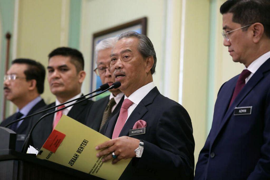 DI PUTRAJAYA: Perdana Menteri Malaysia Tan Sri Muhyiddin Yassin berucap di sidang akhbar di Putrajaya pada 11 Mac 2020.