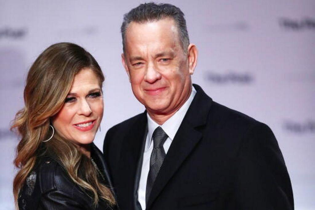 DIJANGKITI KORONAVIRUS: Tom Hanks dan isteri Rita Wilson disahkan dijangkiti koronavirus di Australia minggu lalu.