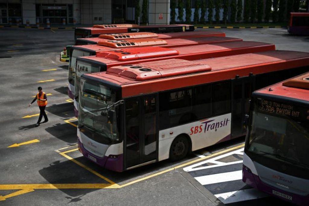 JAGA KEBAJIKAN PEMANDU: SBS Transit telah mendapatkan penginapan sementara di beberapa hotel untuk pemandu bas Malaysia.