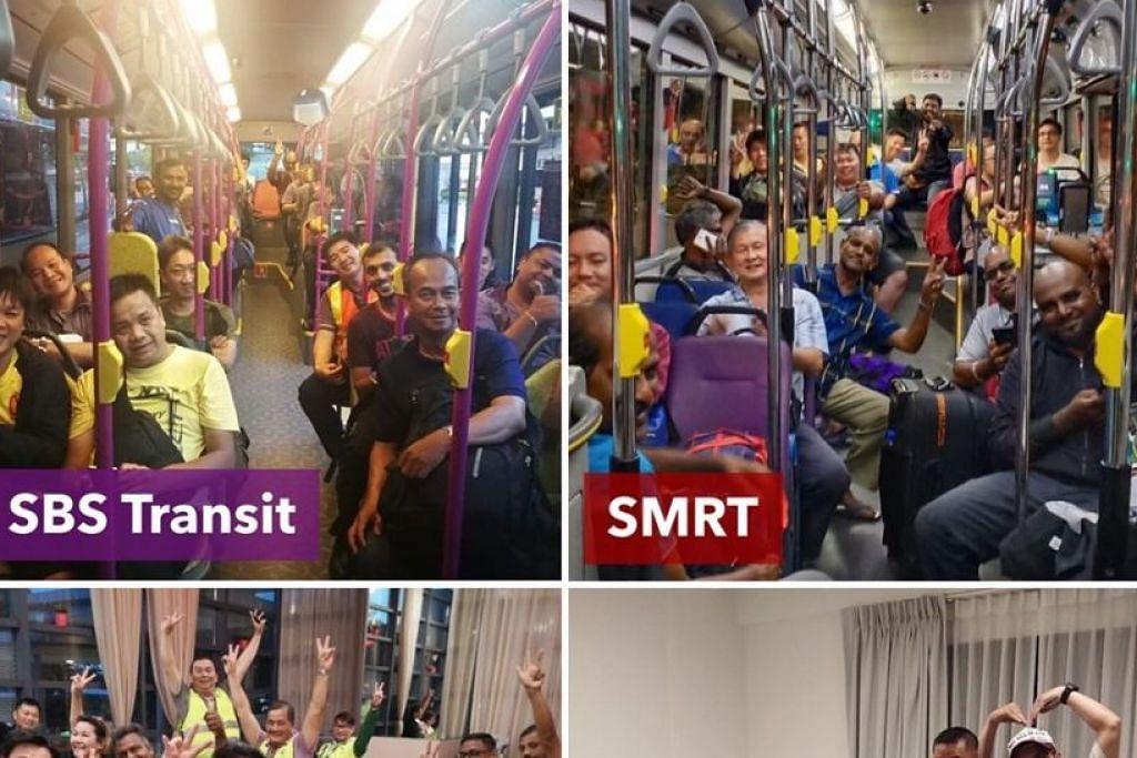 TIDAK TERJEJAS: Encik Khaw berkata perintah Kawalan Pergerakan Malaysia tidak menjejas pengangkutan awam Singapura dan perkhidmatan kereta api serta bas berjalan seperti biasa.