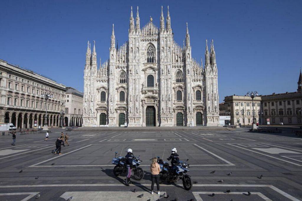 LANJUTKAN PENUTUPAN: Perdana Menteri Giuseppe Conte meluahkan harapan Italy akan mencapai kemuncak kes dalam beberapa hari dan melihat penurunan dalam kadar jangkitan.