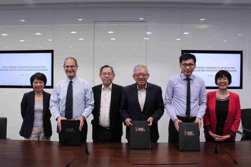 AKADEMI UNTUK SME: Majlis menandatangan MOU bagi membangunkan 'Beyond Lab' diadakan pada Rabu (18 Mac).