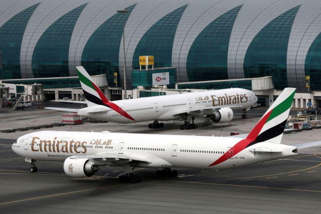 DIGANTUNG: UAE akan menggantung semua penerbangan penumpang masuk dan keluar, serta transit, selama dua minggu.