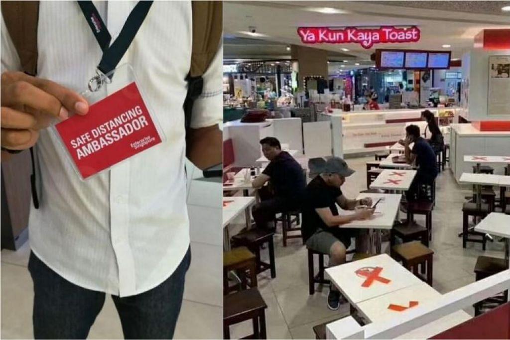 Khabar angin itu berkata seorang pelanggan di Ya Kun Kaya Toast di pusat beli-belah Compass One didenda $300 oleh duta jarak selamat ESG kerana duduk di kerusi yang diletakkan tanda 'X'