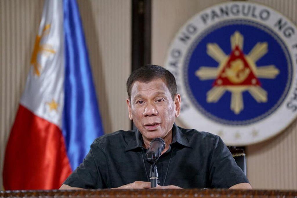 JANGAN INGKAR!: Menurut presiden Filipina, Encik Rodrigo Duterte, sesiapa yang ingkar terhadap arahan pihak berkuasa atau menyusahkan kakitangan kesihatan, mereka boleh ditembak.