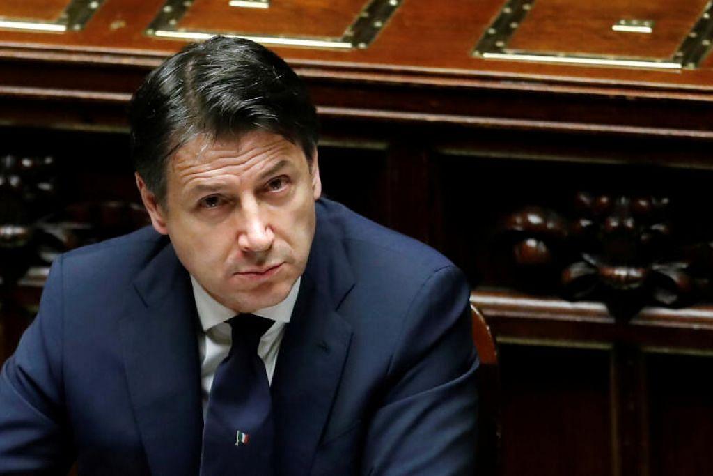 BELUM MASA: Perdana Menteri Itali, Encik Giuseppe Conte, memutuskan untukmenangguhkan keputusan menyambung semula liga bola sepak Serie A.