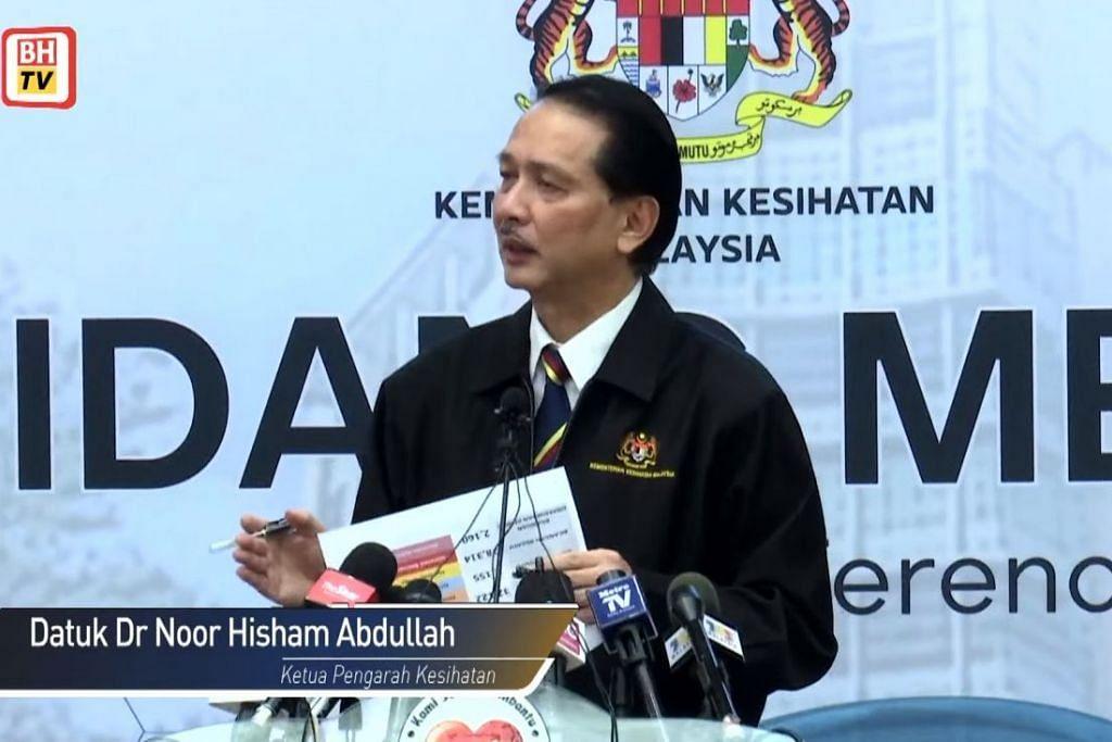 PENULARAN VIRUS: Menurut Ketua Pengarah Kesihatan Malaysia, Dr Noor Hisham Abdullah, hingga jam 12 tengah hari tadi, terdapat 31 jangkitan baharu dilaporkan, menjadikan jumlah kes positif Covid-19 di Malaysia adalah sebanyak 5,851 kes.