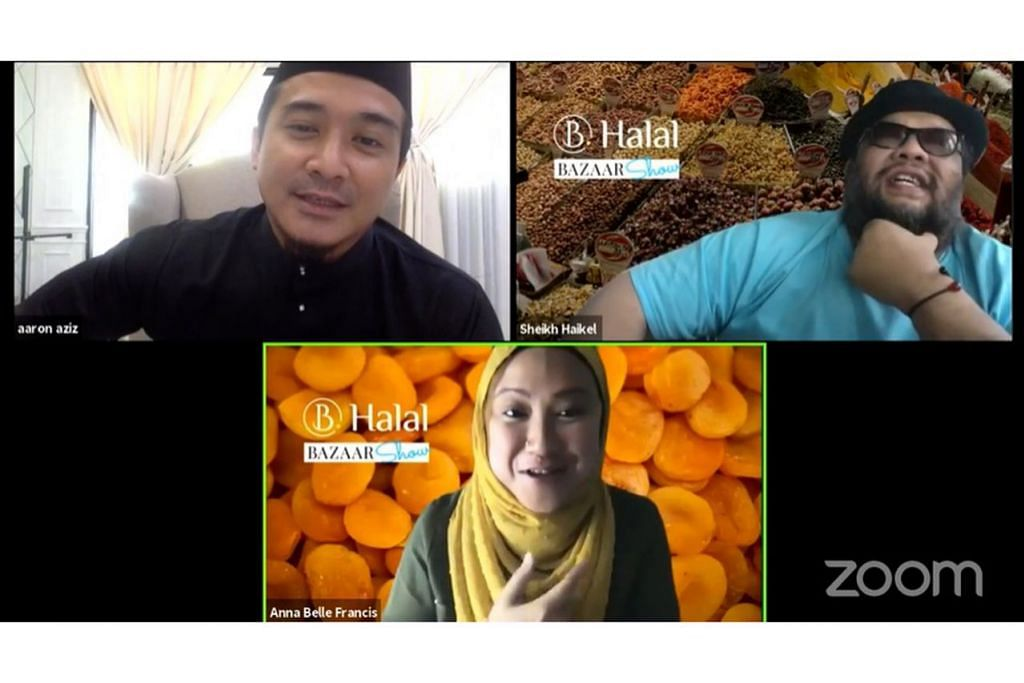 KERAH SELEBRITI: Acara B Halal Bazar mengembleng tarikan selebriti seperti Aaron Aziz dan Sheikh Haikel untuk menyemarakkan penjualan dalam talian. – Foto B HALAL