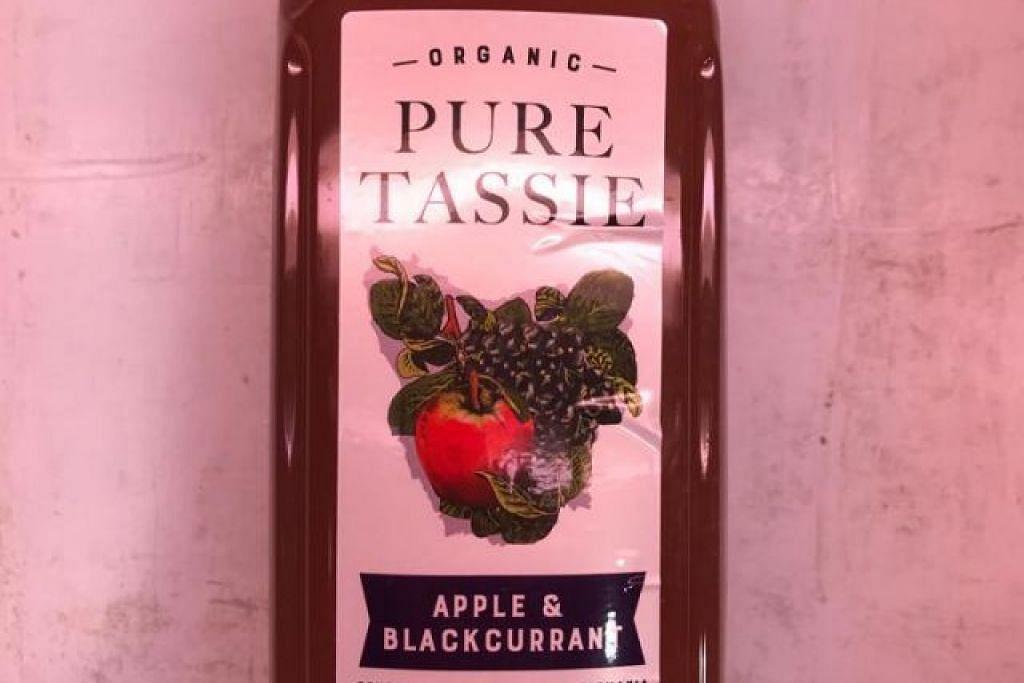 "TARIK BALIK: Agensi Makanan Singapura (SFA) mengesan patulin, sejenis mycotoxin, dalam contoh beberapa bungkusan minumanpati buah""Pure Tassie Organic Apple & Raspberry Juice"" dan""Pure Tassie Organic Apple & Blackcurrant Juice"", di paras melebihi had maksimum dan mengarahkan pengimport,Cold Storage Singapore (1983) Pte Ltd,"
