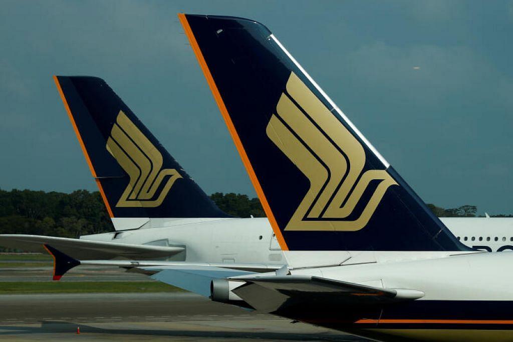 KESAN PENULARAN KORONAVIRUS: Pesawat Penerbangan Singapura di Lapangan Terbang Changi.