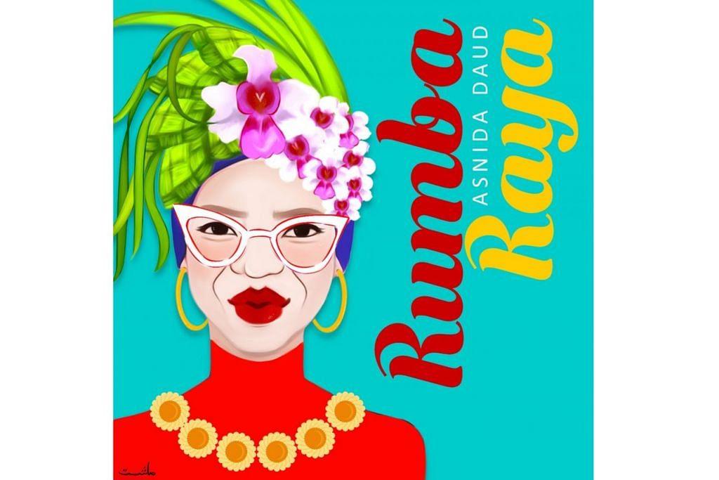 Kulit 'single' Rumba Raya yang berwarna-warni sesuai dengan personaliti ceria Asnida ini dihasilkan Mashita Mohamad. - Foto ihsan MEGAT MUHAMMAD FIRDAUS