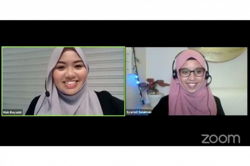 BERAYA CARA NABI: Ustazah Siti Syariati Sulaiman (kanan), yang bersama Cik Hiah Bayazid, berkata sunah Rasulullah saw ialah salah satu cara meraikan Syawal berpandukan akhlak baginda. - Foto ihsan AFIRA NAQILLA