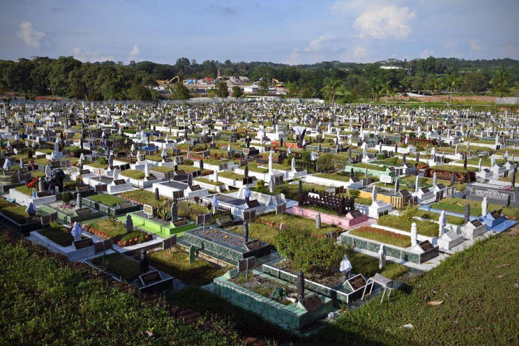 LAWATAN TIDAK DIBENARKAN: NEA mengingatkan orang ramai bahawa lawatan ke tanah perkuburan itu tidak dibenarkan sepanjang tempoh ini tidak dibenarkan selain urusan pengebumian,