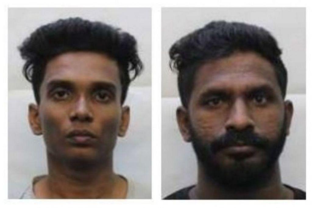 Pushparaj Kapil (kiri) dan Ramachandran Kriysso Prasshad telah didakwa dan masing-masing dikenakan lapan bulan penjara.